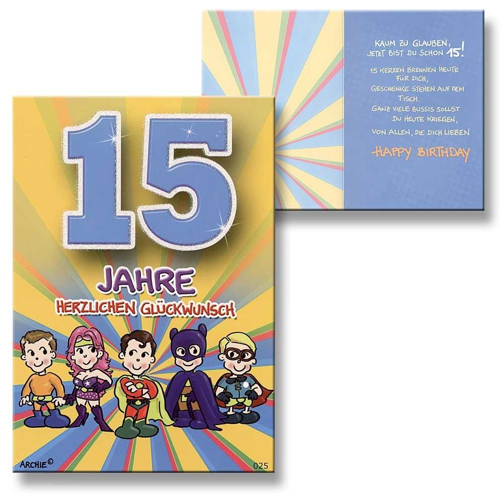 Geburtstagskarten 15 Geburtstag