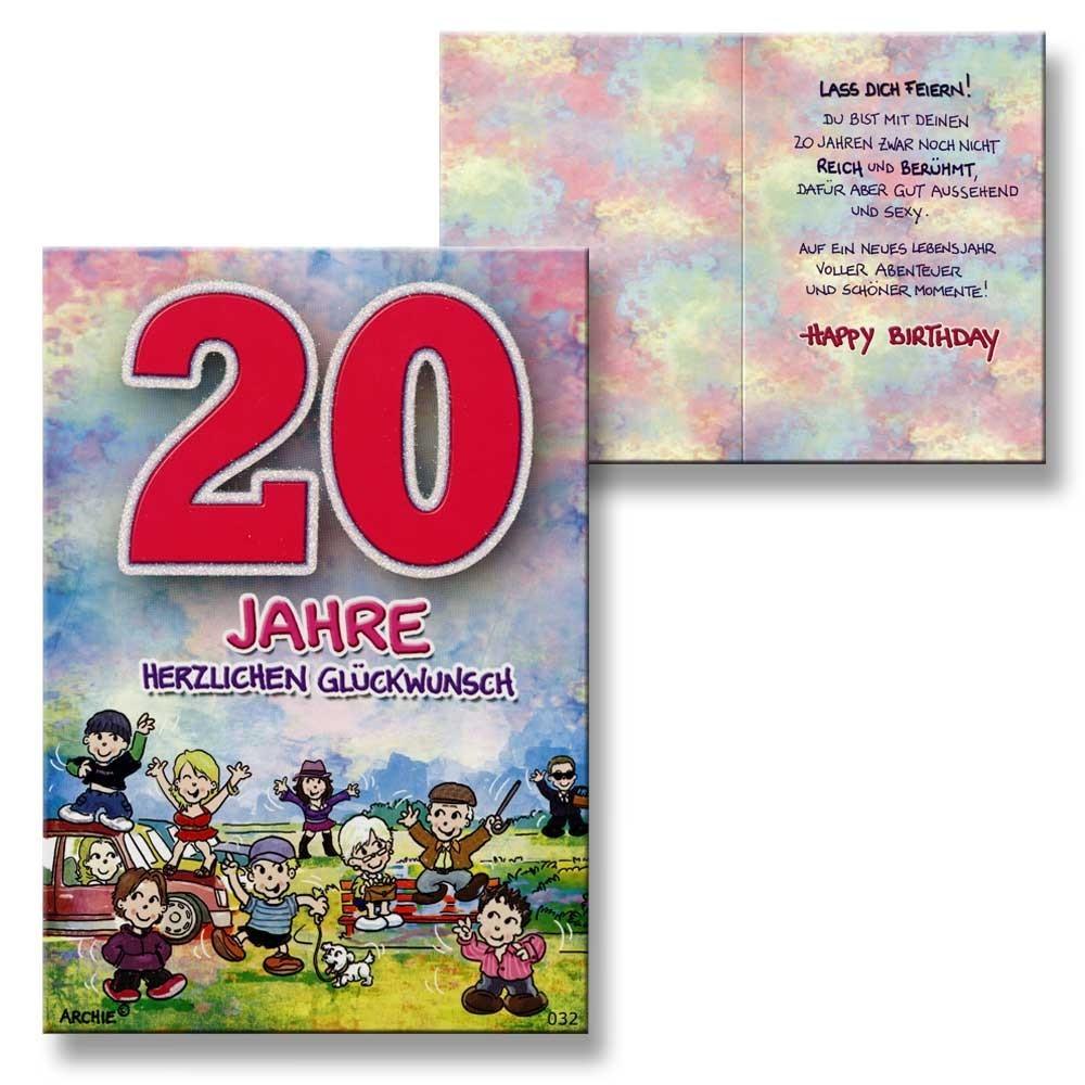 Archie geburtstagskarte zum 20 geburtstag junge m dchen rot gl ckwunschkarte ki ebay - Geburtstagskarte 25 geburtstag ...