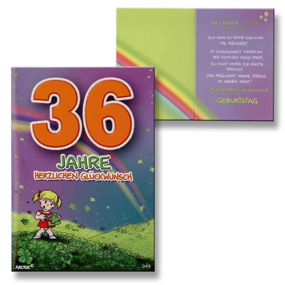 Glückwünsche Zum 36 Geburtstag
