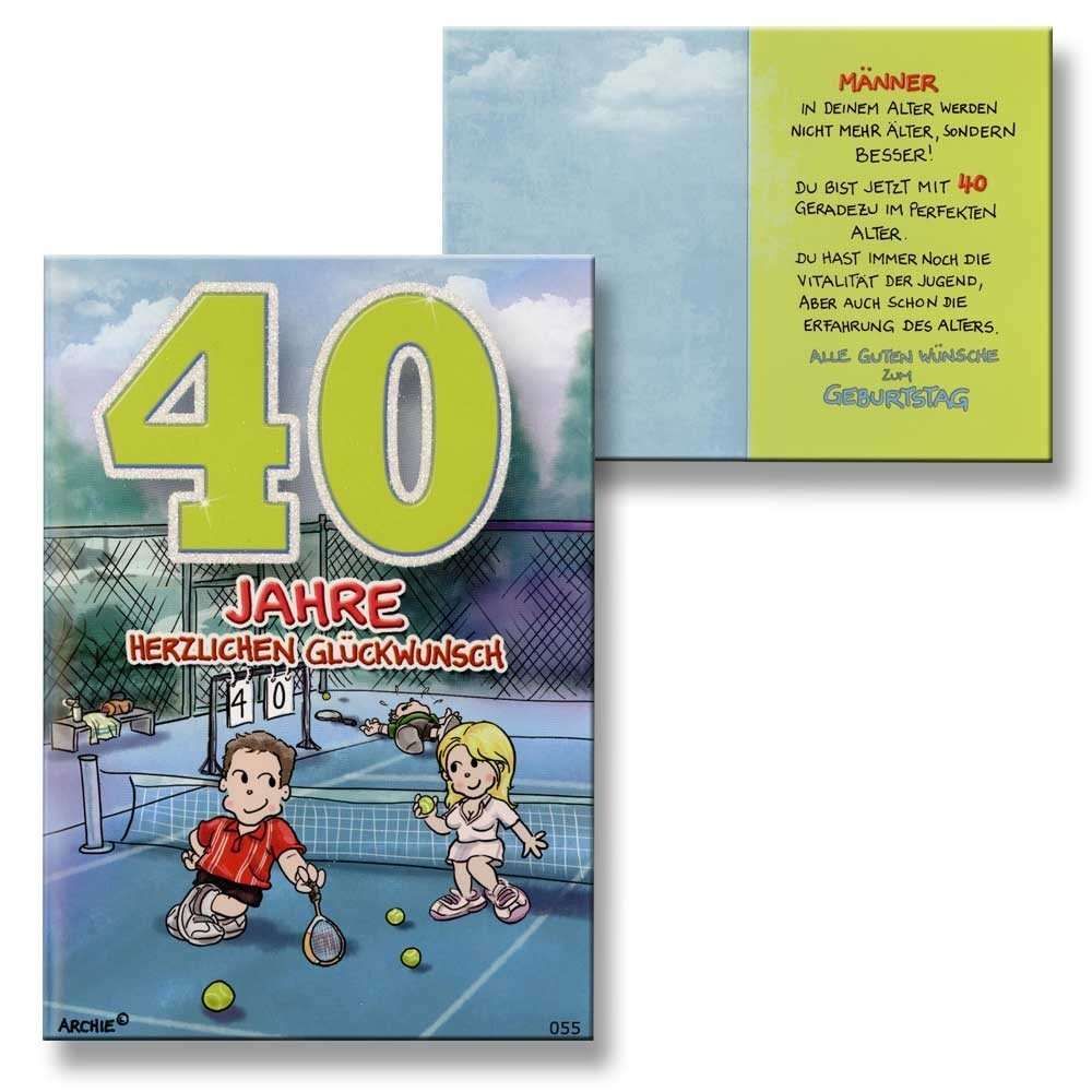 Geburtstagskarten Zum 40