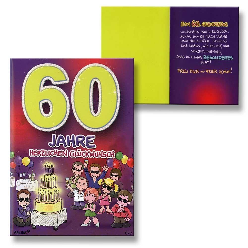 ... Archie Geburtstagskarte Zum 60 Geburtstag Junge Maedchen Lila