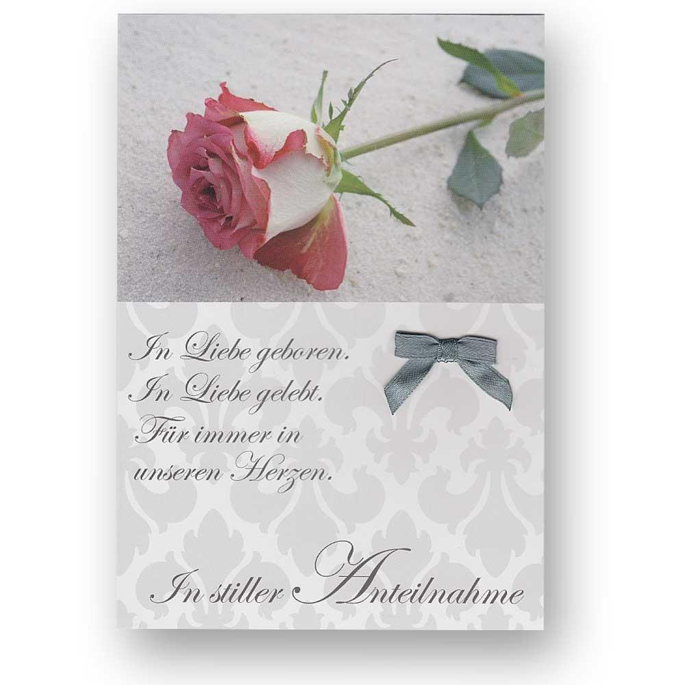 trauerkarte beileidskarte zum kondolieren mit wei en briefumschlag kondolenzkart ebay. Black Bedroom Furniture Sets. Home Design Ideas