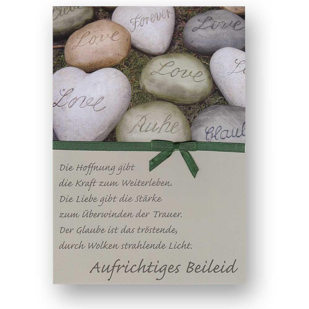 Beileidswunsche Fur Karten: Trauerkarte Beileidskarte Zum Kondolieren Mit Weißen