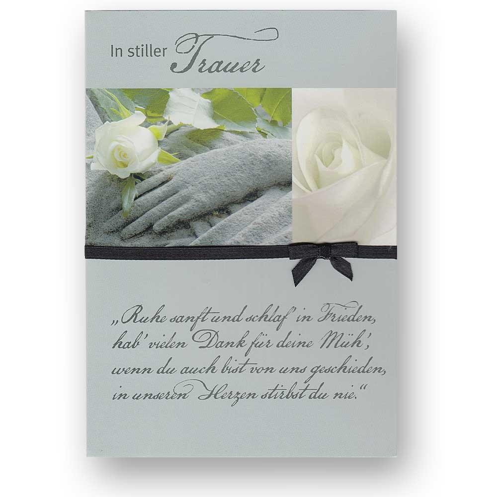 trauerkarte beileidskarte zum kondolieren mit weißen briefumschlag