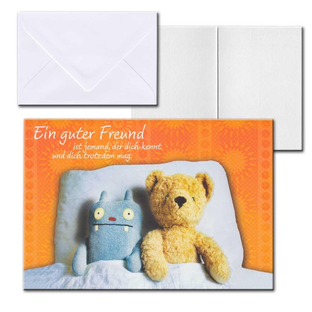 cartolini aufklappkarte karte spr che zitate briefumschlag ein guter freund 17 5 ebay. Black Bedroom Furniture Sets. Home Design Ideas