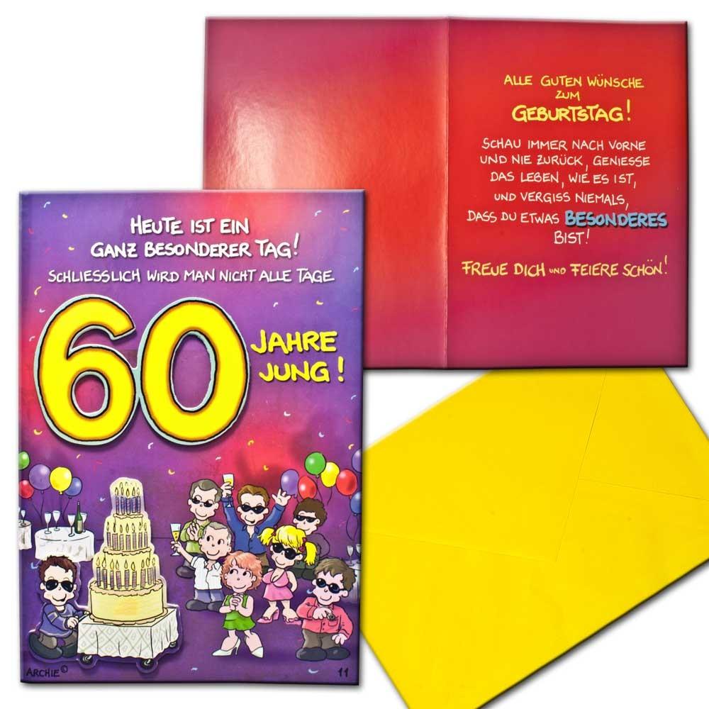 ... Achies Friends Geburtstagskarte 60 Geburtstag  Aufklappkarte Glueckwunschkarte Br