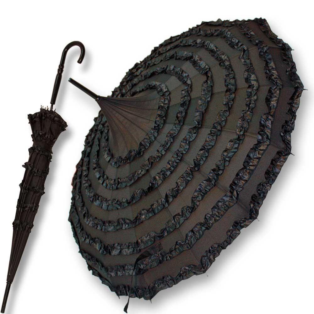 gothic pagodenschirm regenschirm schwarz r schen. Black Bedroom Furniture Sets. Home Design Ideas