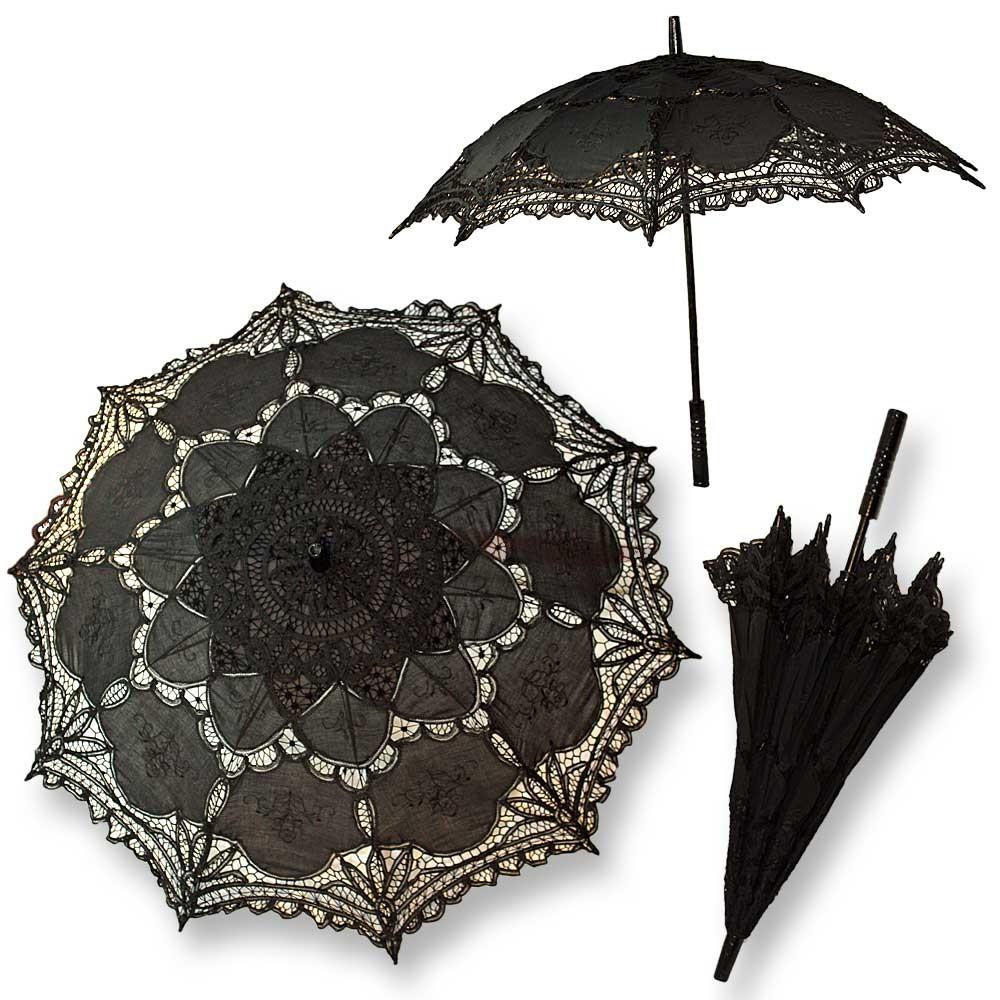gothic sonnenschirm schwarz spitze braut hochzeit. Black Bedroom Furniture Sets. Home Design Ideas