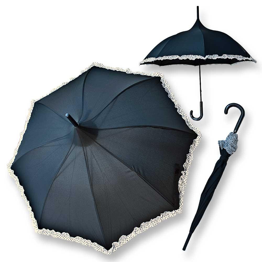 gothic pagodenschirm regenschirm schwarz wei r schen. Black Bedroom Furniture Sets. Home Design Ideas