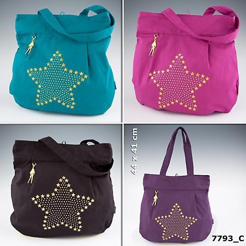 topmodel shopper tasche handtasche tasche stern pink gold. Black Bedroom Furniture Sets. Home Design Ideas