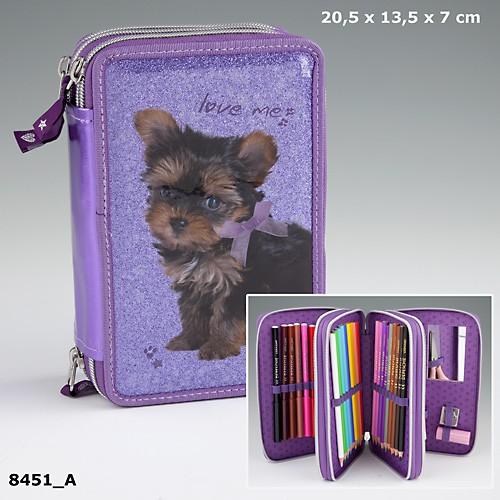 doggy love 3 fach federm ppchen gef llt hund welpe love me. Black Bedroom Furniture Sets. Home Design Ideas