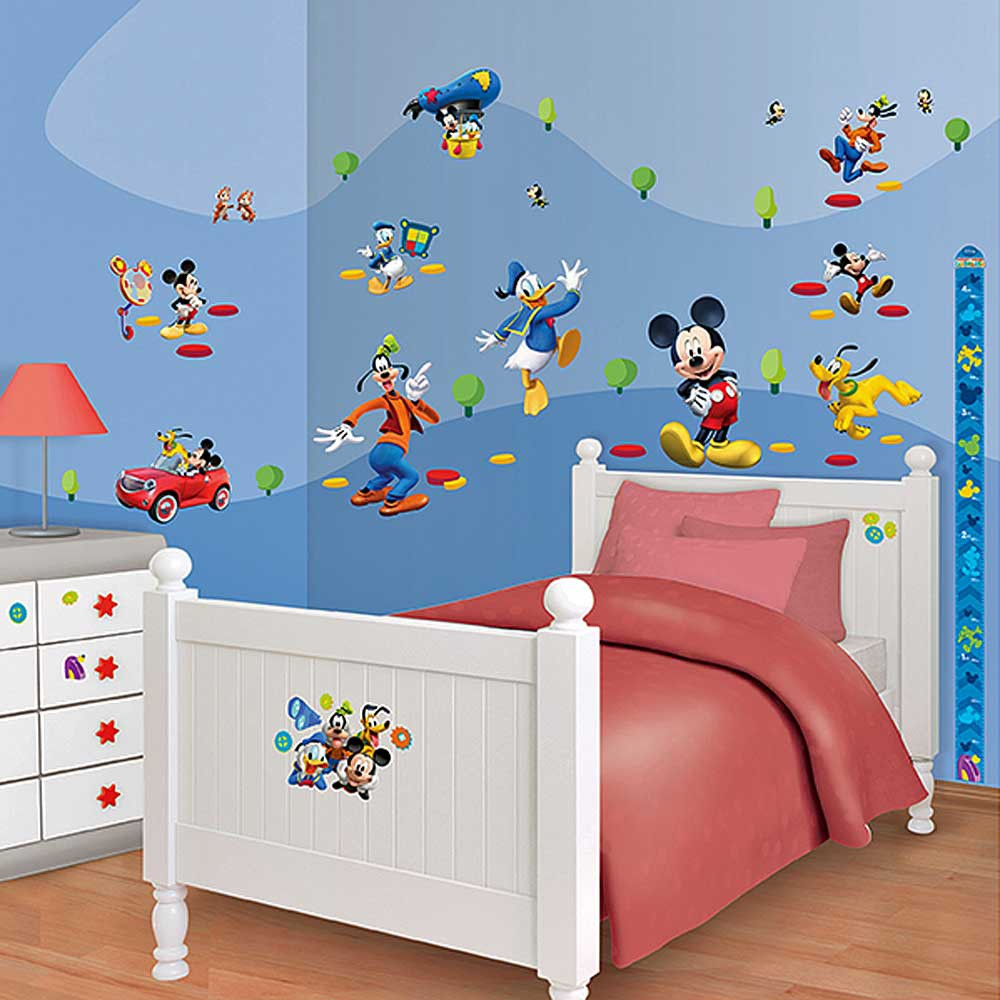 disney micky maus clubhaus wandtattoo 58 wandsticker wandbilder wandaufkleber ki ebay. Black Bedroom Furniture Sets. Home Design Ideas