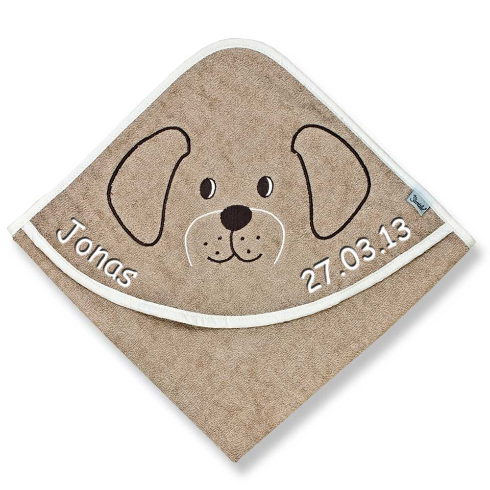 sterntaler kapuzenhandtuch mit namen bestickt 100x100 cm handtuch baby handtuch ebay. Black Bedroom Furniture Sets. Home Design Ideas