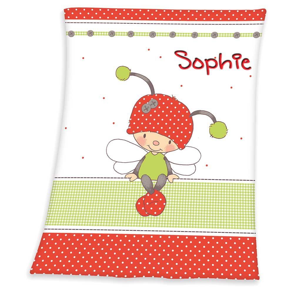 babydecke mit namen bestickt decke 75x100 cm geschenk zur taufe zur geburt ebay. Black Bedroom Furniture Sets. Home Design Ideas