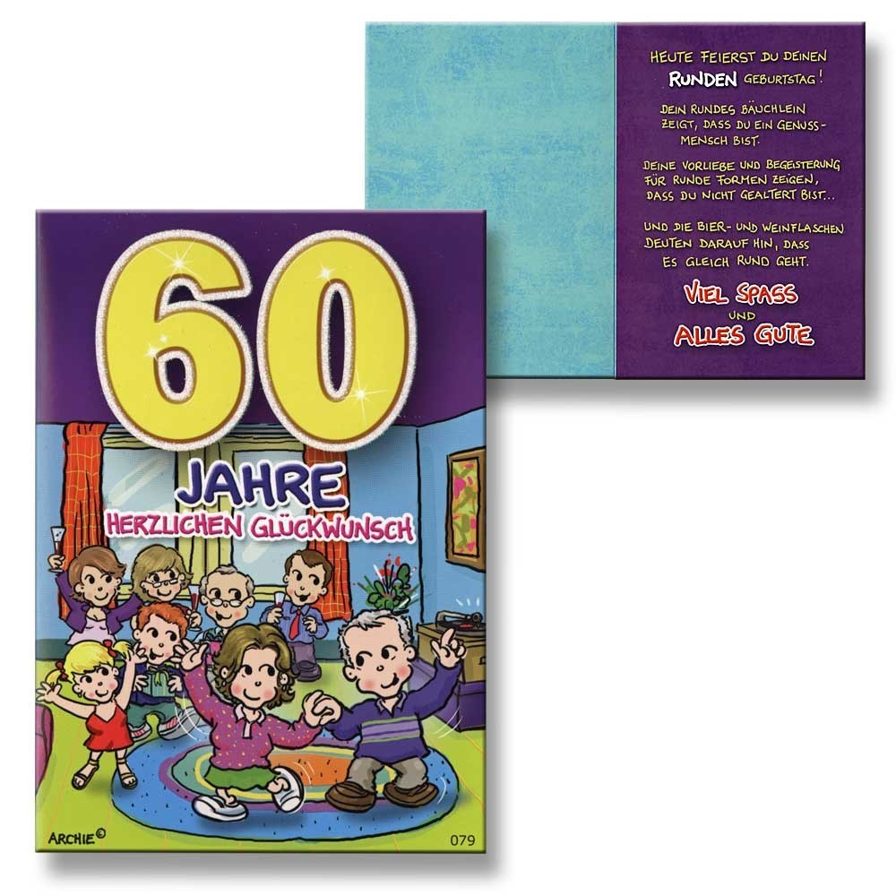 Geburtstagskarte 60 drucken